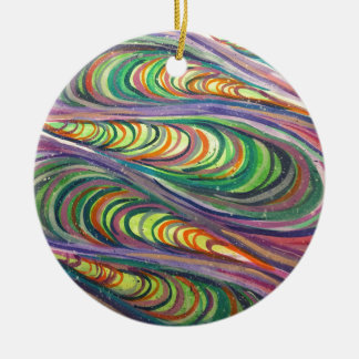 Colorful Coalesce Ceramic Ornament