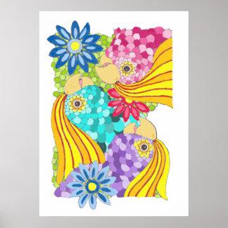 Colorful Cockatiel Poster