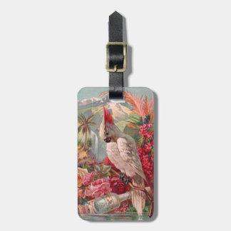 Colorful Cockatoo Vintage Advert Luggage Tag