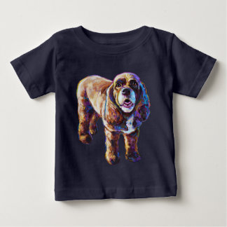 Colorful Cocker Spaniel Baby T-Shirt