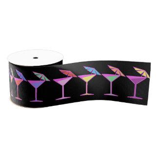 Colorful Cocktails on Black Grosgrain Ribbon