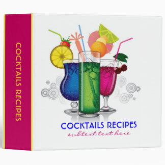 Colorful Cocktails Recipes Avery Binder Template
