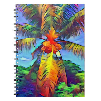 Colorful Coconut Palm Notebook