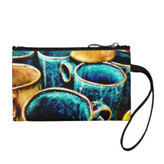 Colorful Coffee Mugs Gifts for Coffee Lovers Teal Coin Wallet