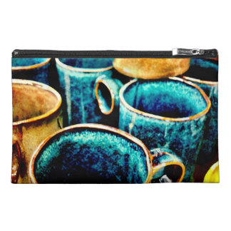 Colorful Coffee Mugs Gifts for Coffee Lovers Teal Travel Accessory Bag