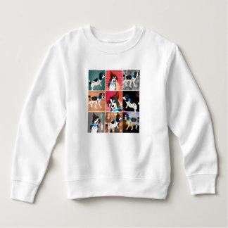 Colorful Collage of Mozzi the Dog Sweatshirt