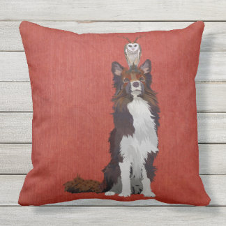 COLORFUL COLLIE & ANTLER OWL PILLOWS