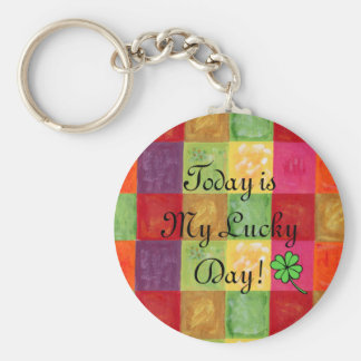 Colorful Color Grid Pattern Keychain