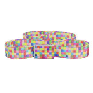 Colorful Colored In Graph Paper Squares Belt