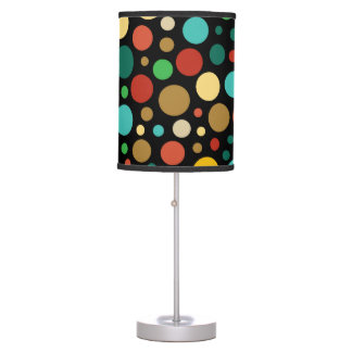 Colorful Colored Multicolor Dot Pattern Table Lamp