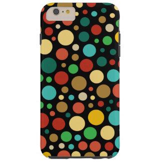 Colorful Colored Multicolor Dot Pattern Tough iPhone 6 Plus Case