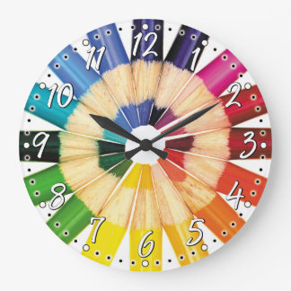 Colorful Colored Pencil Artist Wall Clock