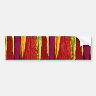 Colorful Colored wool yarn for weaving, Kairouan Bumper Sticker