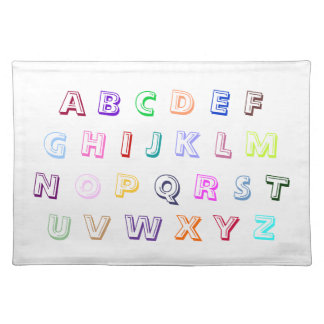 Colorful Coloring Alphabet Placemats