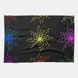 Colorful Comic Explosions Kitchen Towel