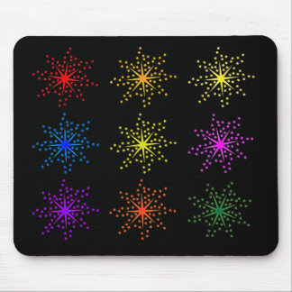 Colorful Comic Explosions Mouse Pad