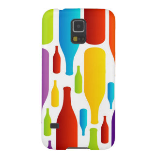 colorful composition of bottles case for galaxy s5