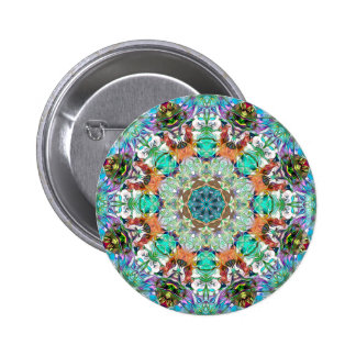 Colorful Concentric Abstract 2 Inch Round Button