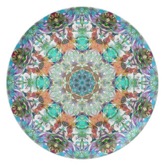 Colorful Concentric Abstract Party Plates