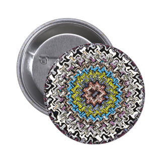 Colorful Concentric Chaos 2 Inch Round Button