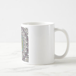 Colorful Concentric Chaos Coffee Mug