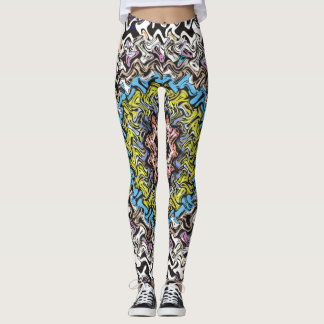 Colorful Concentric Chaos Leggings