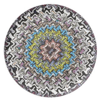 Colorful Concentric Chaos Plate