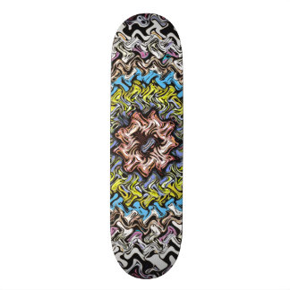 Colorful Concentric Chaos Skate Boards
