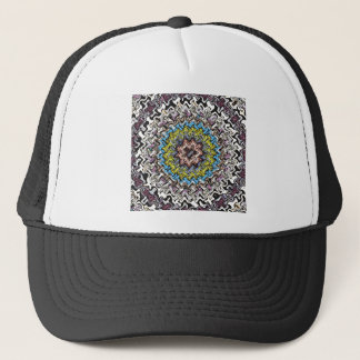 Colorful Concentric Chaos Trucker Hat