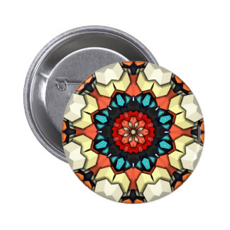 Colorful Concentric Cubes 2 Inch Round Button