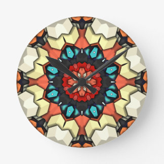 Colorful Concentric Cubes Wall Clock