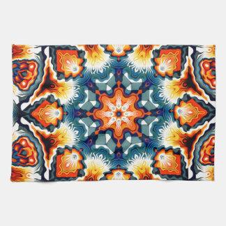 Colorful Concentric Motif Kitchen Towel