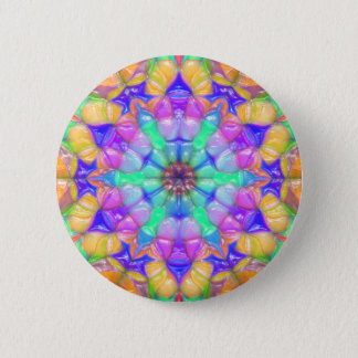 Colorful Concentric Reflections 2 Inch Round Button