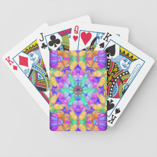Colorful Concentric Reflections Bicycle Playing Cards