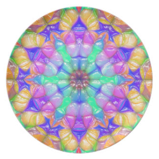 Colorful Concentric Reflections Dinner Plates