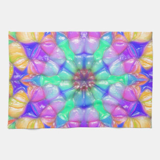 Colorful Concentric Reflections Kitchen Towel