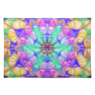 Colorful Concentric Reflections Placemat