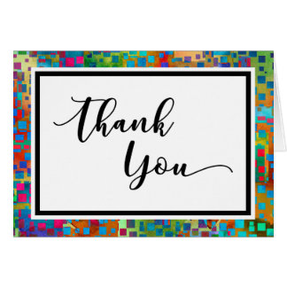 Colorful Confetti Abstract Thank You Card