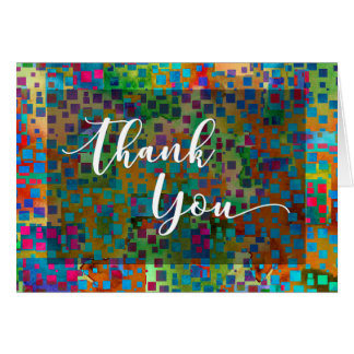 Colorful Confetti Abstract Thank You Card, 2 Card