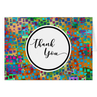 Colorful Confetti Abstract Thank You Card, 3 Card