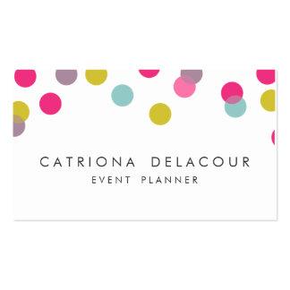 Colorful Confetti Dots Modern Business Card