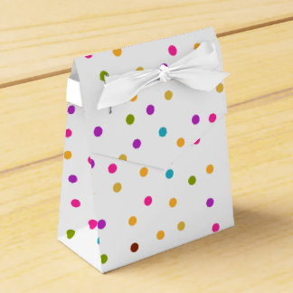 Colorful confetti pattern gift bag favor box