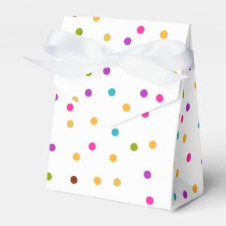 Colorful confetti pattern gift bag favor box