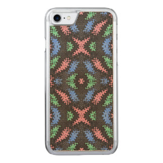 Colorful Confetti pattern on black Carved iPhone 7 Case