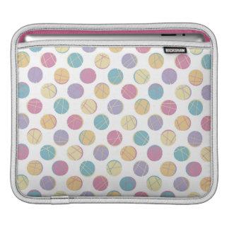 Colorful confetti polka dots modern urban chic iPad sleeves