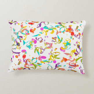 Colorful Confetti Toss Artwork Decorative Pillow