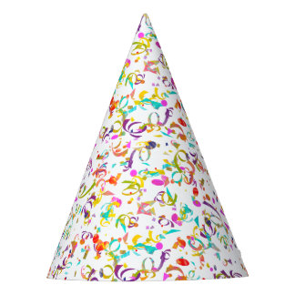 Colorful Confetti Toss Artwork Party Hat