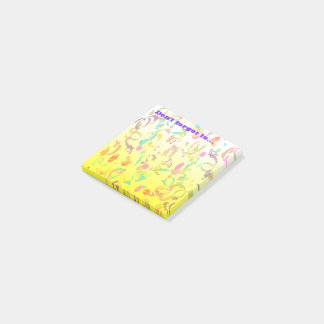 Colorful Confetti Toss Background Post-it Notes