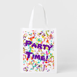 Colorful Confetti Toss Grocery Bags