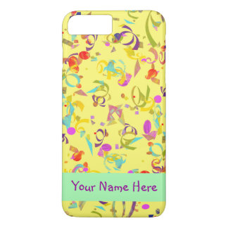 Colorful Confetti Toss Over Yellow Case-Mate iPhone Case